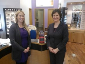 db82d9285f Mairead O Leary Opticians Crowned Donation Box Champions Optometry Giving  Sight