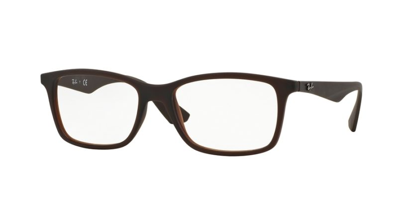 0c8516620d ray-ban vista 0rx7047 5451 matte trasp brown